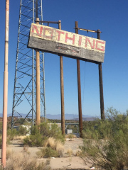 Town of Nothing Sign