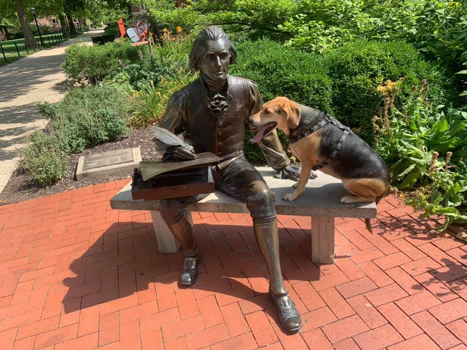 Thomas Jefferson ~ Original Grave Marker & Statue