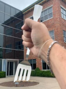 The Big Hand Strikes Again ~ World's Largest Fork
