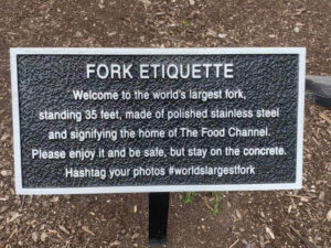 World's Largest Fork Info Sign
