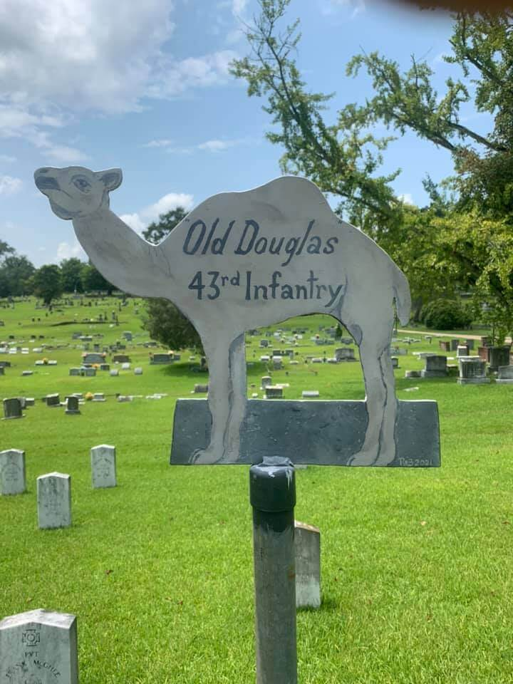 Old Douglas the Confederate Camel ~ Cedar Hill Cemetery - Vicksburg, MS